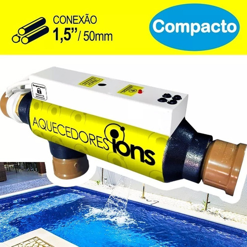 Aquecedor Compacto Elétrico Para Piscinas Spa Hidro Ofuro