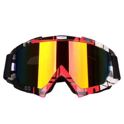 Óculos Vermelho Espelhado Motocross Trilha Enduro Crf db0ca60767