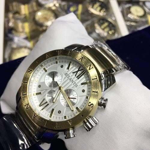 74f540f7460 Relógio Original Atlantis Estilo Bvlgari Dourado Oferta Top