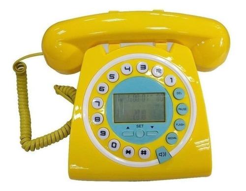 Telefone Fixo Teem Tm 8227 Amarelo