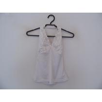Blusa Feminina Branca Detalhe Fita Cód. 814