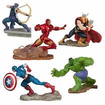 Disney Store Vingadores Figure Play Set Perfeito Bolo/festa