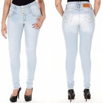 Sawary Jeans Calça Feminina Cintura Alta Com Elastano Sato