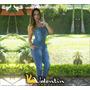 Macacao Feminino Jeans Longo Limdo Marca Valentim