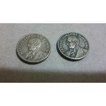 Moedas 20 Centavos,de 1944 Com E Sem Sigla De Bronze-alumíni