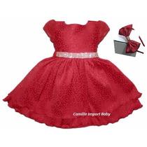 Vestido Festa Infantil Luxo Dama De Honra Com Tiara