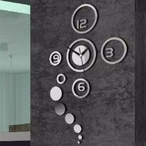 Relógio De Parede Criativo C/ Adesivo Sala, Cozinha, Quarto