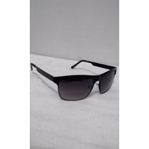 Óculos Sol Masculino Quadrado Armação Metálica Preto Uv 400