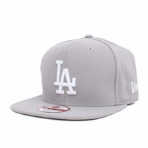 Boné Aba Reta Los Angeles Dodgers Cinza Original Snapback La