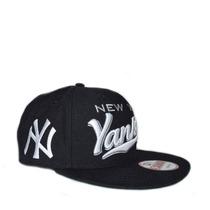 Boné New York Yankees Script Azul Aba Reta Snapback Original