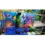 Aquário Mundo Nemo E Dory 45x21x30 28,3 Lts 3 Mm Completo!