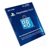 Cartão Playstation Br Brasil Psn R$250 Reais Plus Brasileiro