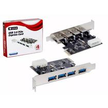 Placa Usb 3.0 Pci-e Express 5gbps Com 4 Portas Lotus