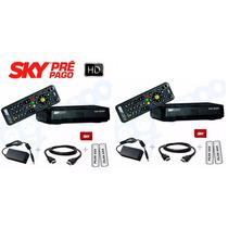 2 Receptor Sky Pre Pago Flex Hd, Som E Imagem 100% Digital