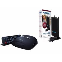 Kit Conversor Digital Aquário Dtv-5000 + Antena Amplificada