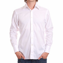 Camisa Social Em Natural Blend Masculina Pronta Entrega