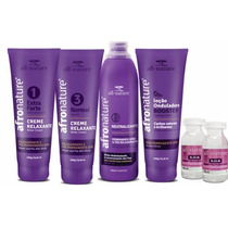 Kit Permanente Afro E Relaxamento Afro Nature / All Nature