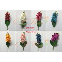 Kit 6 Flores Artificiais Buque Orquidea Pronto Entregam-qx