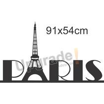 Adesivo Decorativo Quarto Paris Torre Eiffel Papel Parede