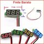Mini Voltímetro Digital Led Medidor De Baterias Frete Barato