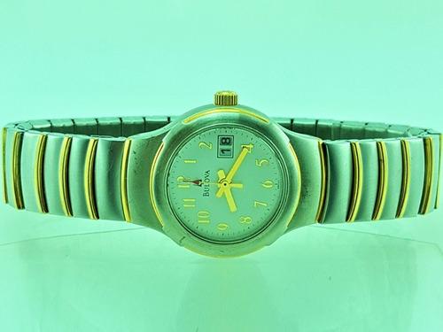 b363df7469f Relógio Bulova 98u24 Cor Prata E Dourado Banho Ouro