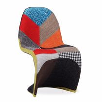 Cadeira Panton Estampada Em Patchwork
