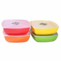 Jogo C/ 3 Potes Multiuso P/ Mantimentos/alimentos Plástico
