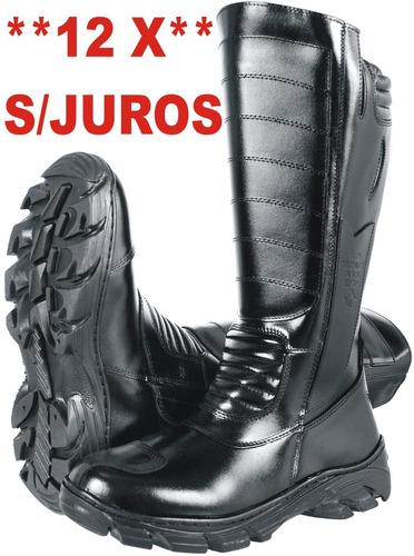 555e97865 Bota Bombeiro Coturno Militar Motociclista Samu Promoção 12x