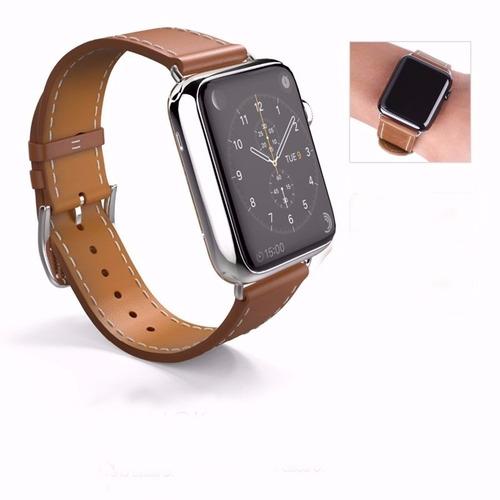 232b53b4352 Pulseira Couro Luxo Moderno Smart Watch 1 2 3 38mm 42mm. Pulseira Couro Luxo  Moderno Smart Watch ...