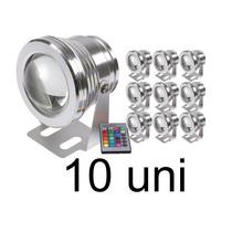 10 Refletor Holofote Led Rgb P/ Piscina 10w 12v Frete Grátis