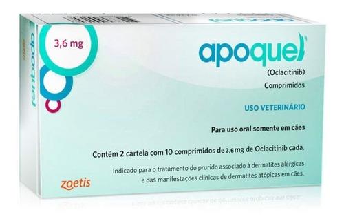 Apoquel Zoetis 3,6mg Anti Coceira Cães Com 20 Comprimidos