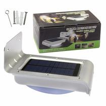 Lampada Painel Solar 16 Leds Jardim Sensor De Movimento