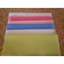 50 Retalho Tecido 100% Algodão Liso - 20cm X 20cm Patchwork