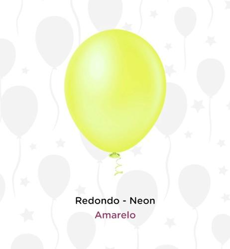 Balão Bexiga Festa Neon 50 Unidades - Número 9