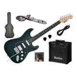 Kit Completo Guitarra Phx Strato Power + Amp E Acessórios