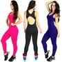 Macacão Feminino Suplex Saia Tapa Bumbum Academia Fitness