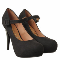 Scarpin Sapato Meia Pata Nobuck Vizzano Feminino Confortável