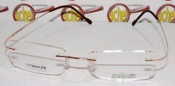 Armação Oculos Grau Flexivel Silhouette Titanium S Aro Gold - R  79 ... 8c10b57ea0