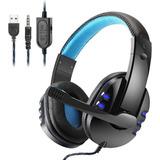 Fone Gamer Headset Microfone Usb Pc Ps4 Xbox One Celular +nf