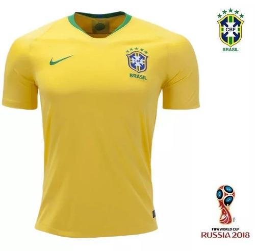 98f7d4f75b553 Camisa Seleção Brasileira Brasil Oficial Copa 2018 Nike - R  129 en ...