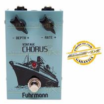 Pedal Vintage Chorus Fuhrmann Analógico True Bypass Guitarra
