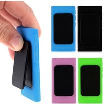 Capa Silicone Com Flip Ipod Nano 7 + Película Grátis.