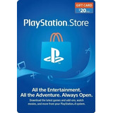 Playstation Giftcard Psn Contas Americana $20 Envio Imediato