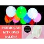 Balão Bexiga Bola Led Festa Decoração Casamento Luz Kit 5un