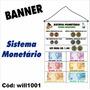 Banner Pedagógico Sistema Monetário Moeda 1m X 64cm Will1001