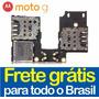 Slot Leitor Chip Micro Sd Moto G 3 Xt1543 Xt1544 G3 Sim Car