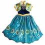 Fantasia Vestido Frozen Ana Fever Frete Gratis Pronta Entreg