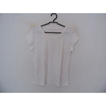 Blusa Feminina Branca Malha Manguinhas Cód. 757
