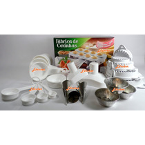 Forma Fábrica Coxinhas Pastel Esfihas Salgados Kit Modelador