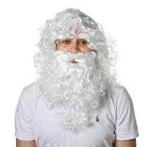 Peruca Papai Noel Com Barba ,bigode E Sombrancelha- Natal
